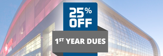GET 25% OFF FIRST YEAR DUES NOW